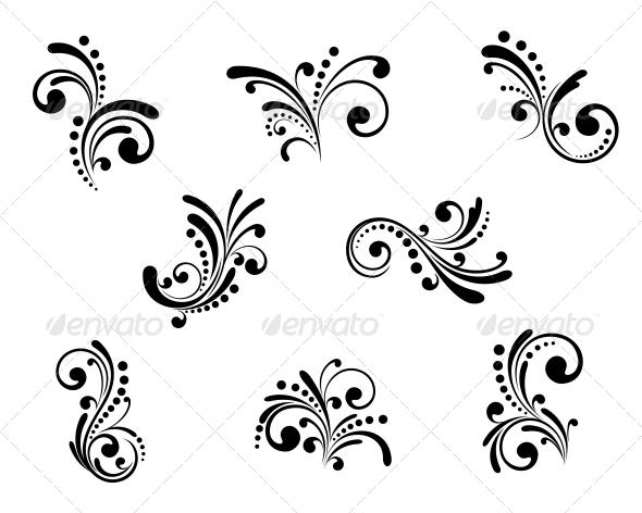 Floral Elements - Patterns Decorative