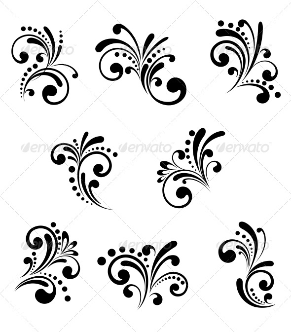 Floral Elements - Patterns Decorative