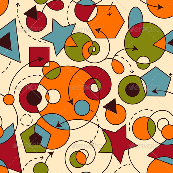 Vector Abstract Seamless Composition - Patterns Decorative