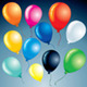 Isolated Colorful Balloons. Vector Clipart - GraphicRiver Item for Sale