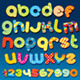 Mottle Vector Alphabet. Vector Clipart - GraphicRiver Item for Sale