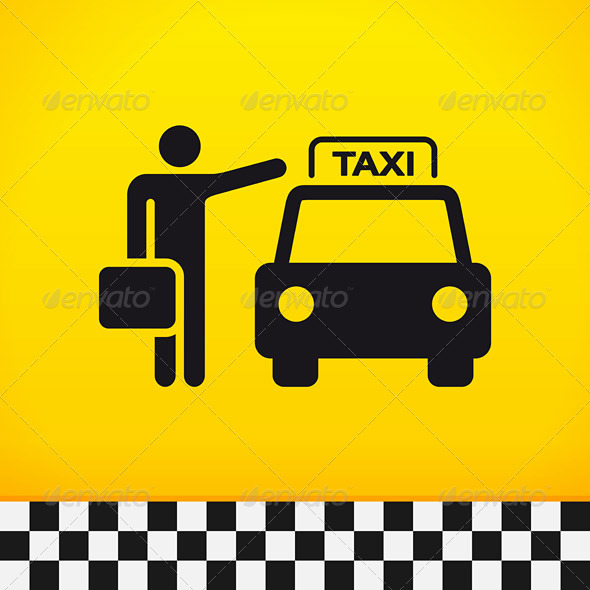 Taxi Theme with Passenger - Services Commercial / Shopping