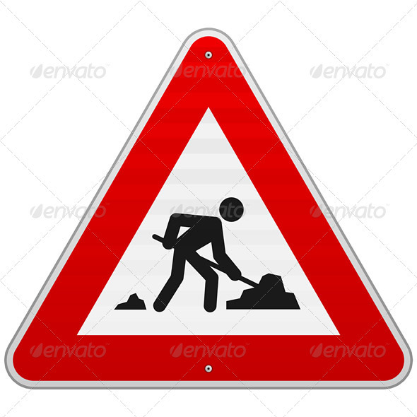 Construction Road Sign - Industries Business