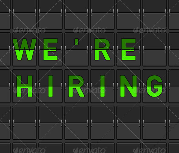 We Are Hiring Flip Board - Objects Vectors