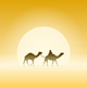 Two Camels and Sun - GraphicRiver Item for Sale