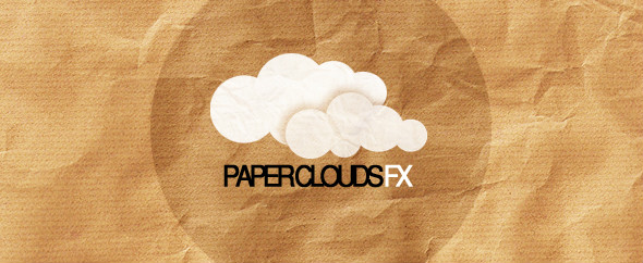Paper clouds banner
