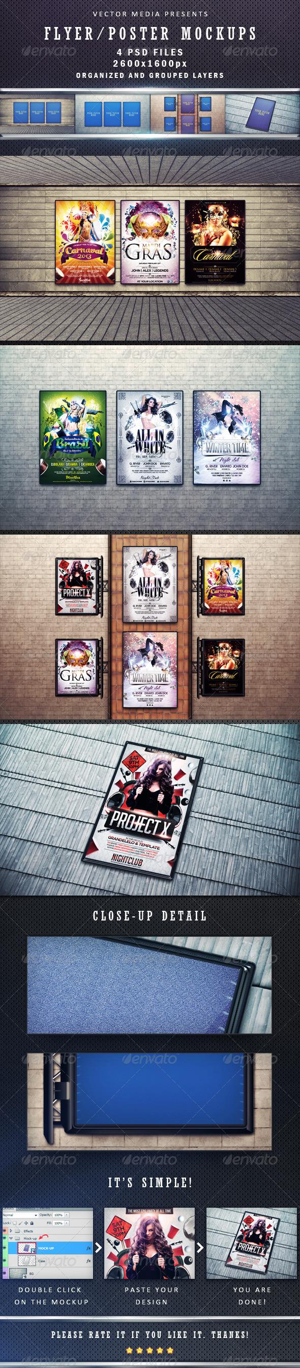 Flyer / Poster Mockups - Posters Print