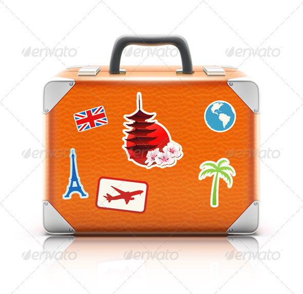 vintage suitcase - Travel Conceptual