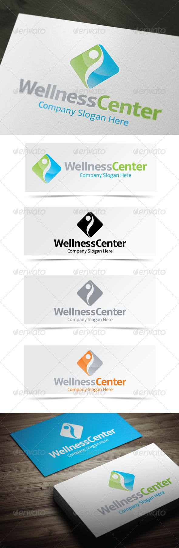 Wellness Center Logo - Vector Abstract