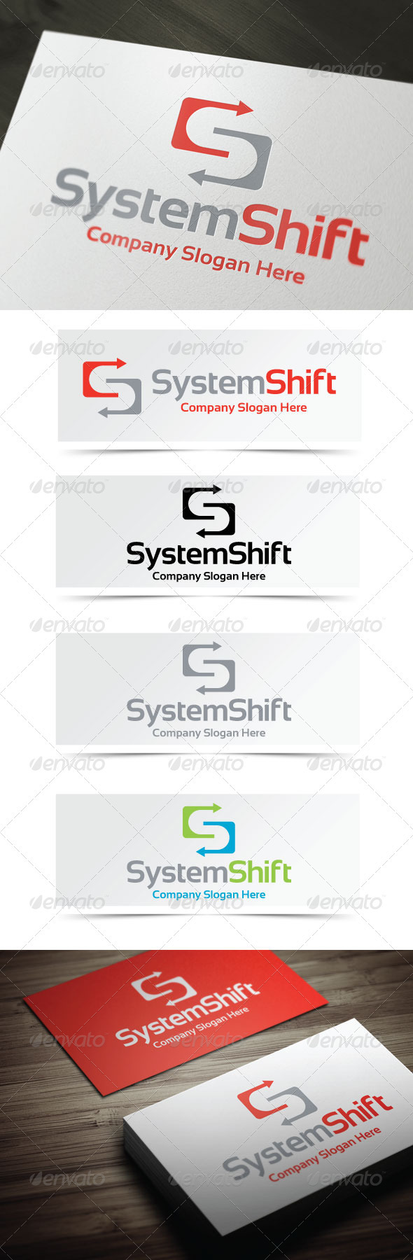 System Shift Logo - Letters Logo Templates
