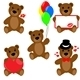 Set of Valentine teddy bears - GraphicRiver Item for Sale