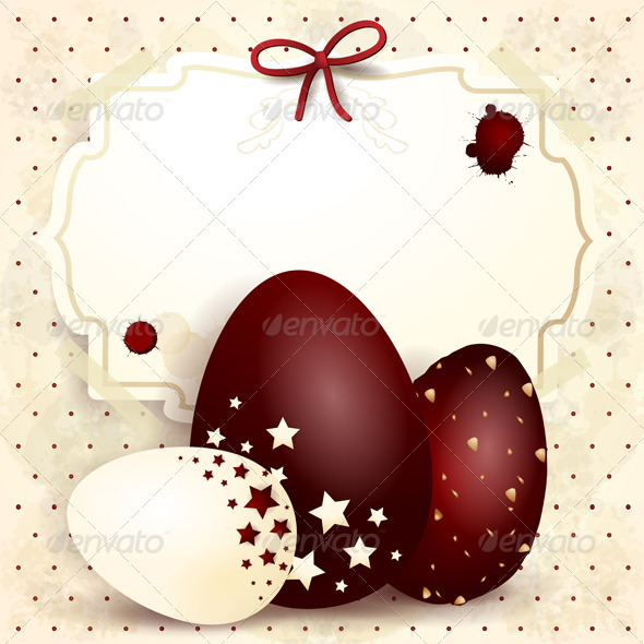 Easter background with label - Seasons/Holidays Conceptual