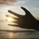 Silhouetted Male Hand Against a Sun - VideoHive Item for Sale