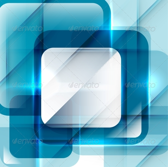Blue Modern Geometric Abstract Background - Backgrounds Decorative