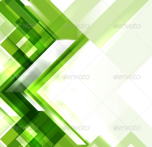Green Modern Geometric Abstract Background - Backgrounds Decorative