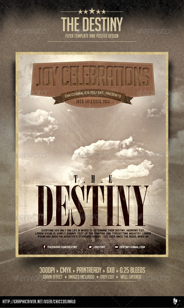 The Destiny Flyer Template - Concerts Events