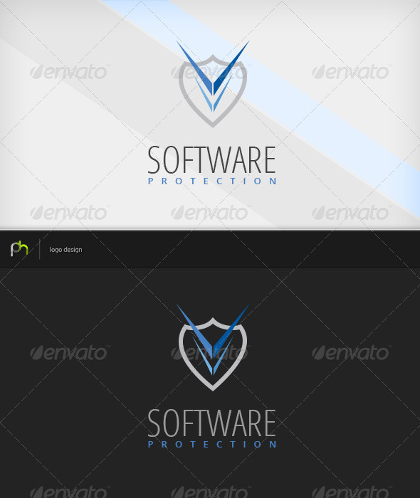 Software Protection Logo - Vector Abstract