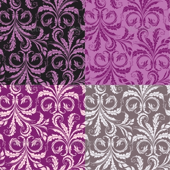 Decorative Seamless Floral Background - Patterns Decorative