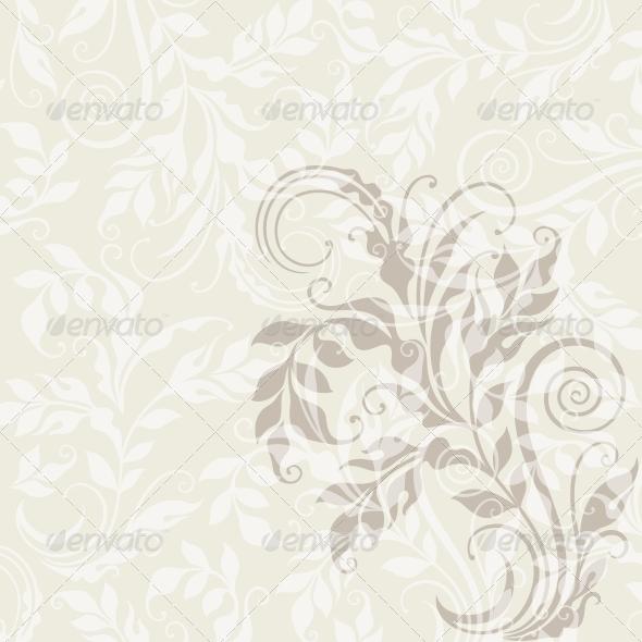EPS10 Decorative Floral Background - Flourishes / Swirls Decorative