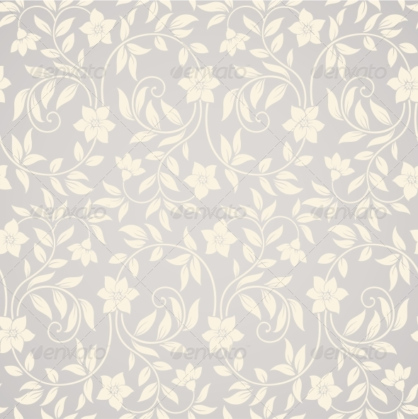 Seamless Swirl Floral Background - Patterns Decorative
