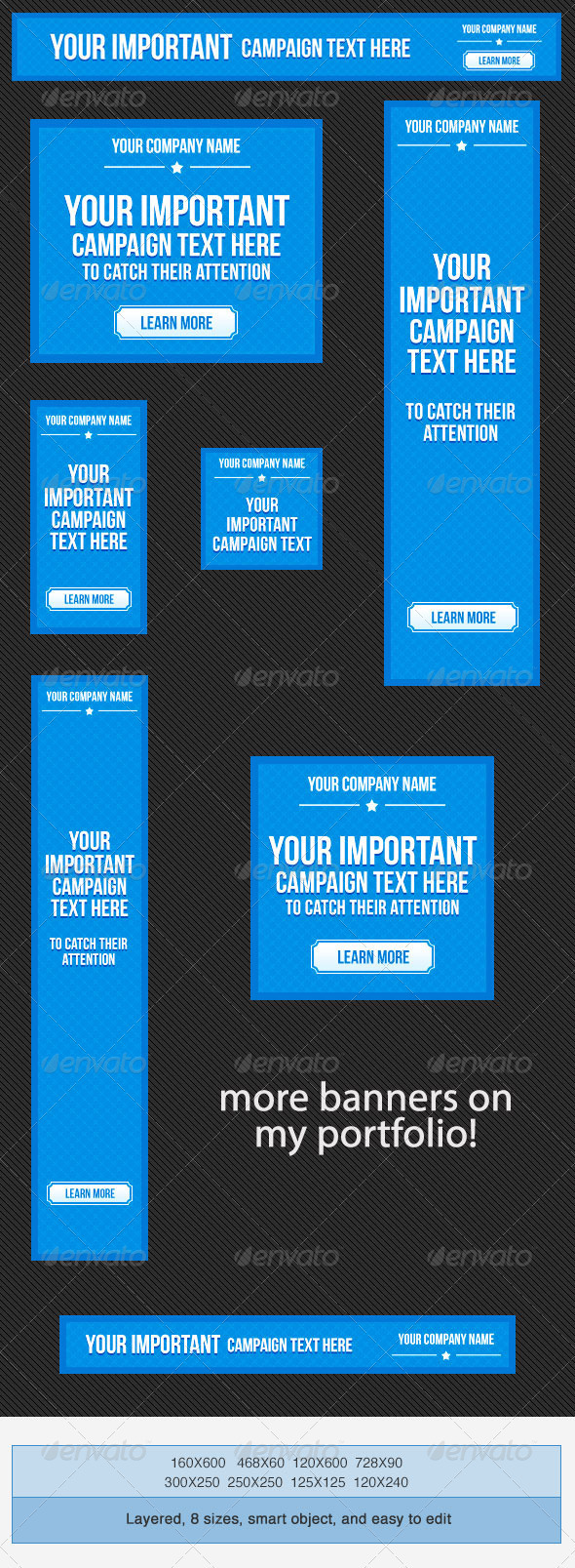 Web Marketing Banner Ad Templates By Admiraladictus GraphicRiver - Photoshop ad templates