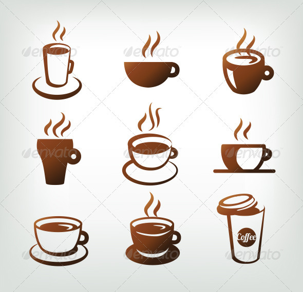 Vector Set Of Coffee Icons - Vectors