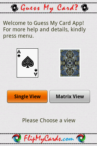 Android Mind Reader : Guess My Card