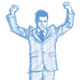 Sketch Businessman with Hands Up - GraphicRiver Item for Sale