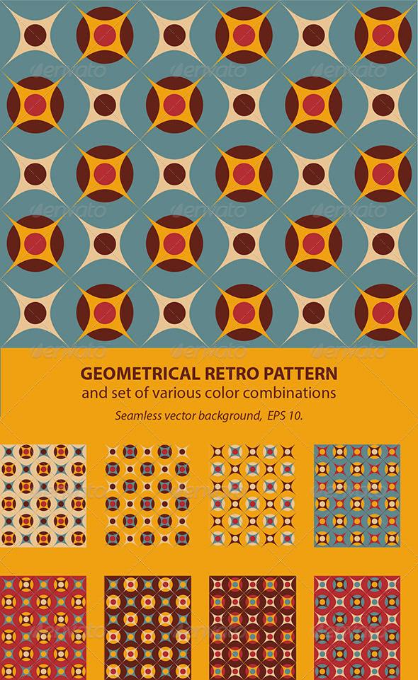 Seamless Geometrical Retro Pattern - Patterns Decorative