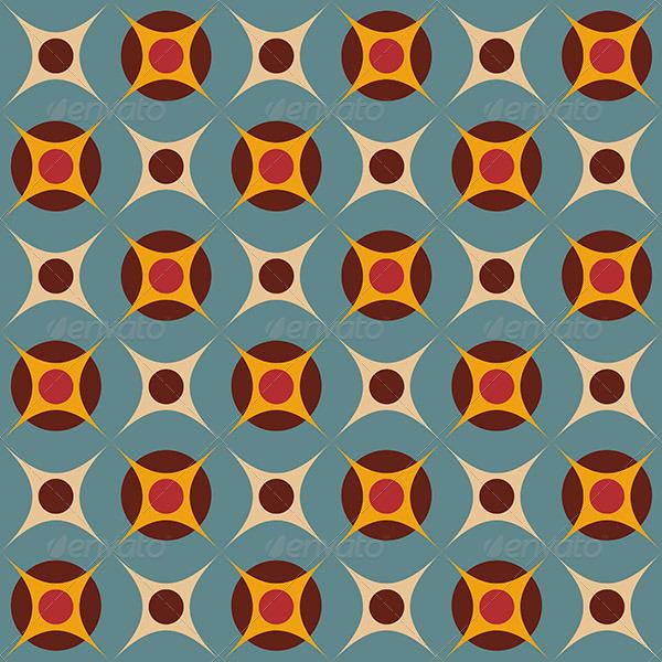 Seamless Geometrical Retro Pattern