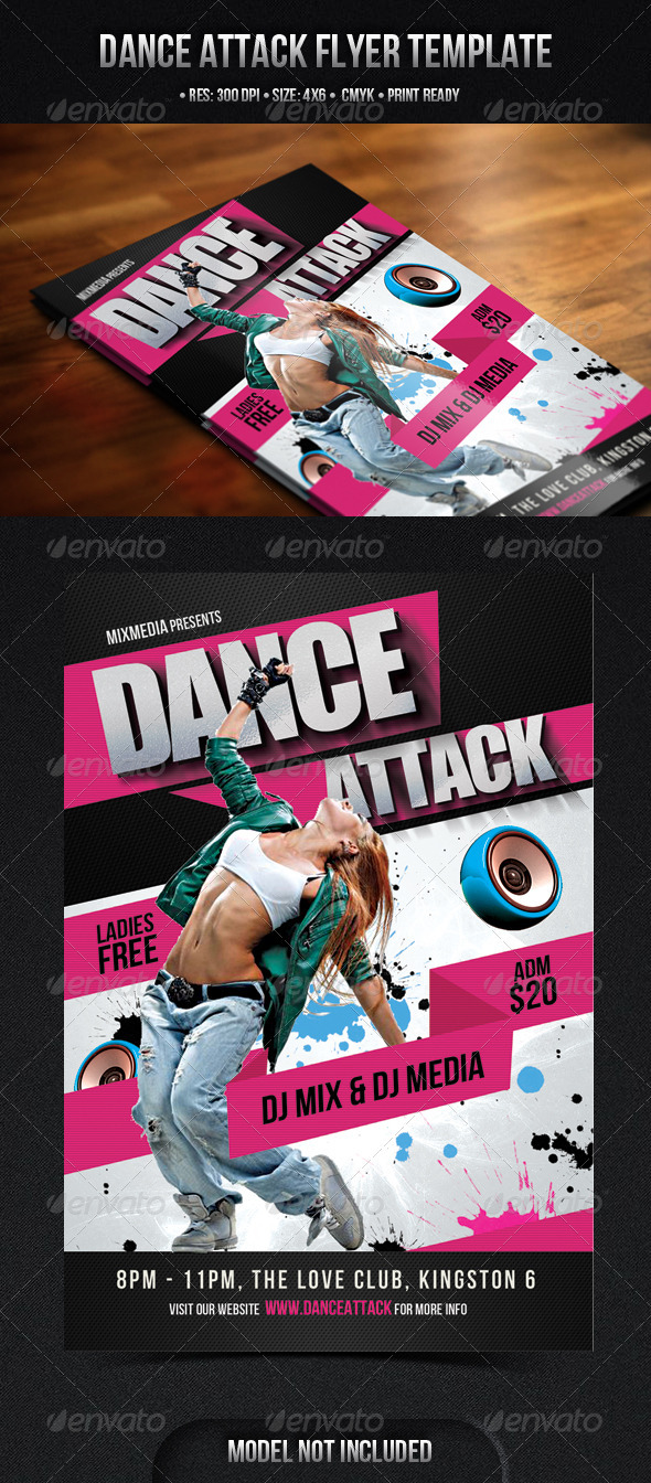 Dance Attack Flyer - Clubs & Parties Events