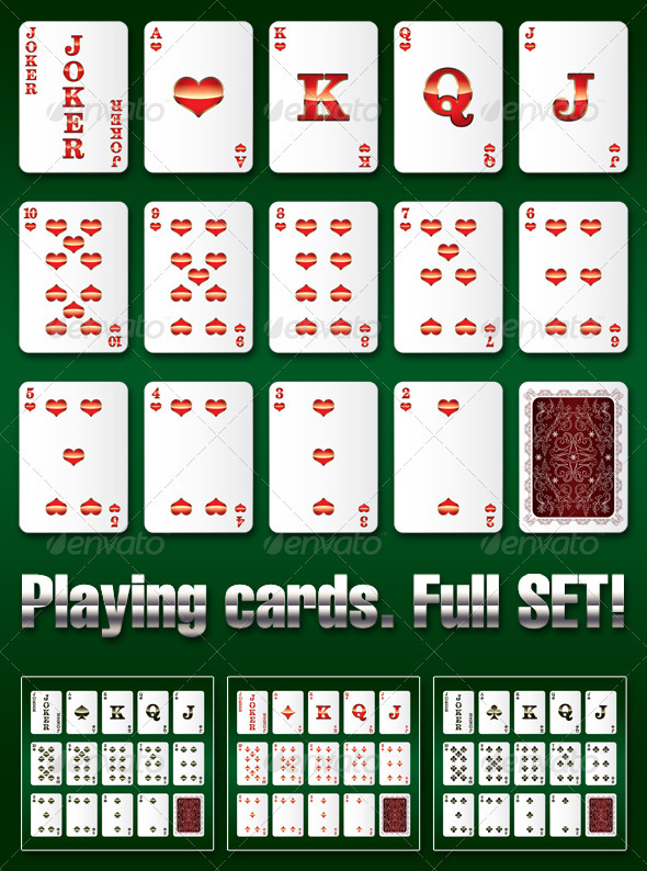 Playing Cards Complete Set - Sports/Activity Conceptual