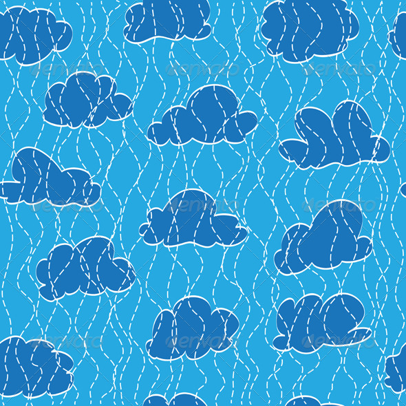 Sky, Cloud And Rain - Patterns Decorative