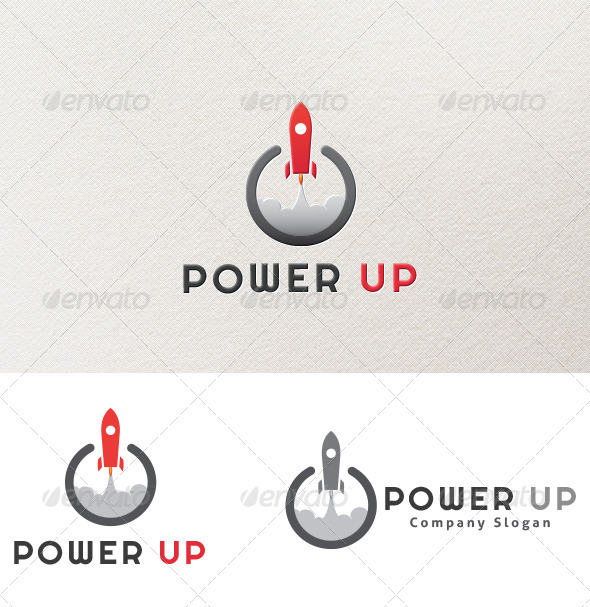 Power Up Logo - Objects Logo Templates