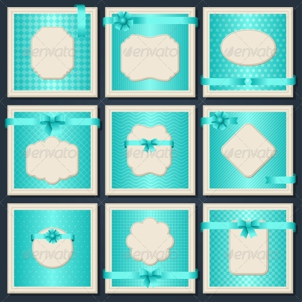 Vintage patterned cards. - Borders Decorative