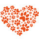 Animal Paws Heart, Vector - GraphicRiver Item for Sale
