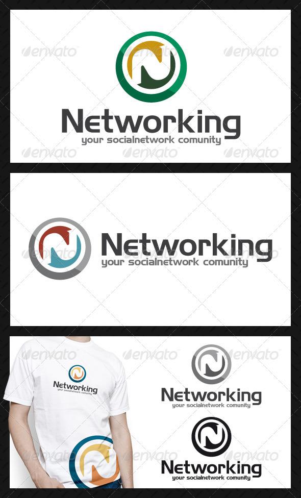 Social Network Community Letter N Logo Template - Letters Logo Templates