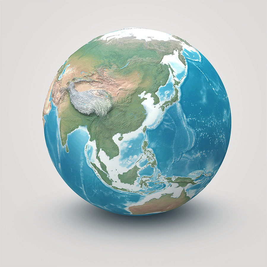 Planet Earth - Realistic 3D World Globe by Giallo | 3DOcean