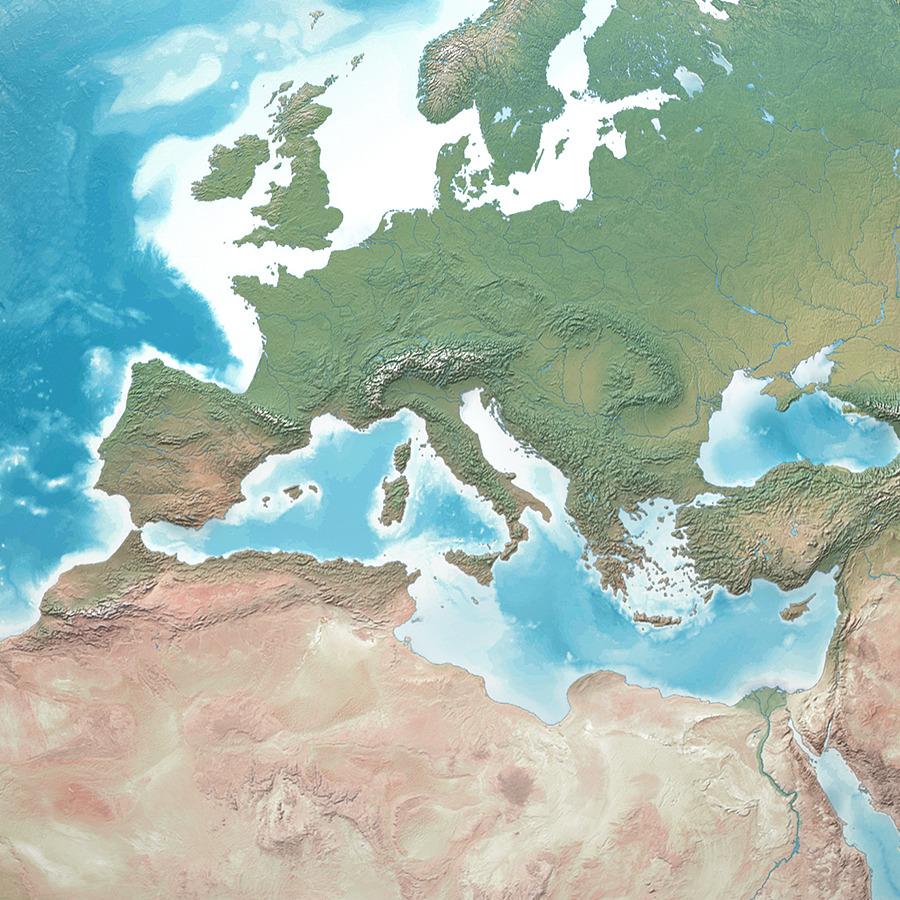 Planet Earth Realistic D World Globe By Giallo DOcean - Earth globe map