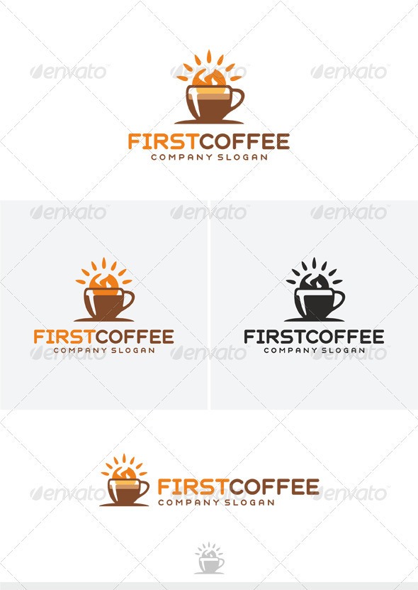 First Coffee Logo - Food Logo Templates