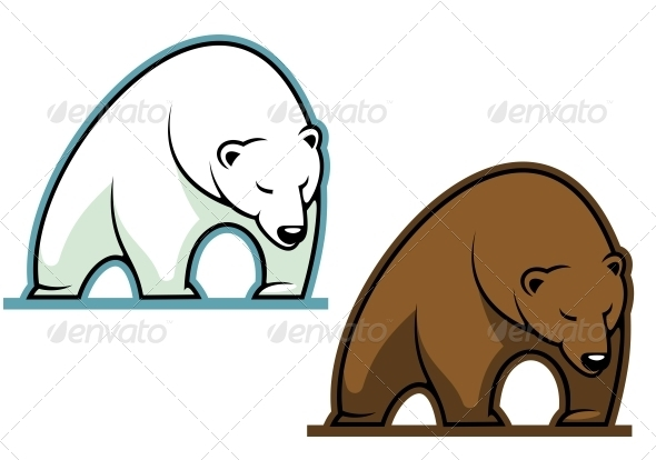 Big kodiak bear - Animals Characters