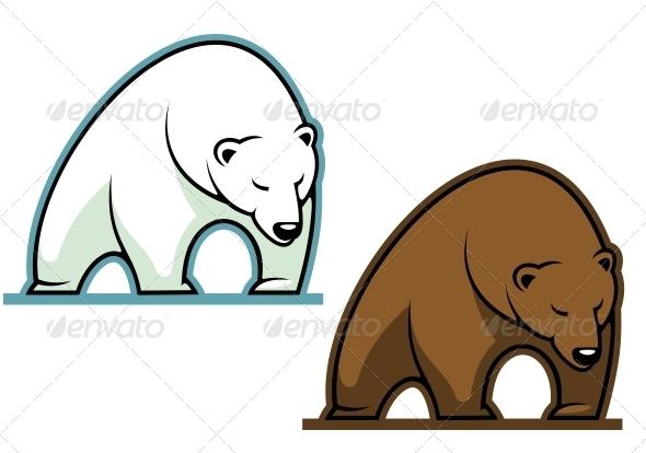 Big kodiak bear - Animals Characters