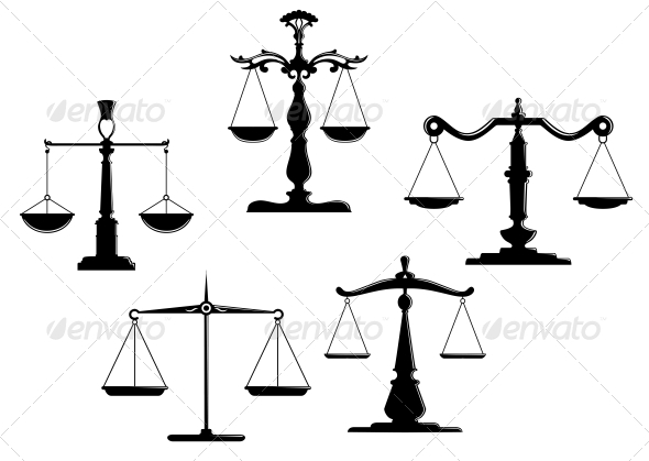 Justice scales - Man-made Objects Objects