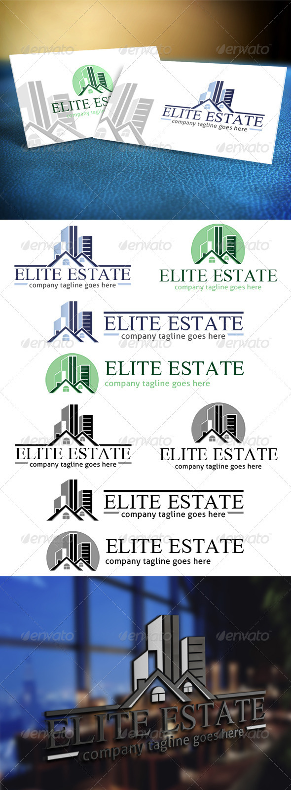 Elite Estate - Realty Logo - Buildings Logo Templates