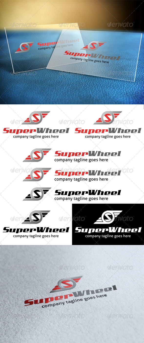 Super Wheel - Letter S Logo - Letters Logo Templates