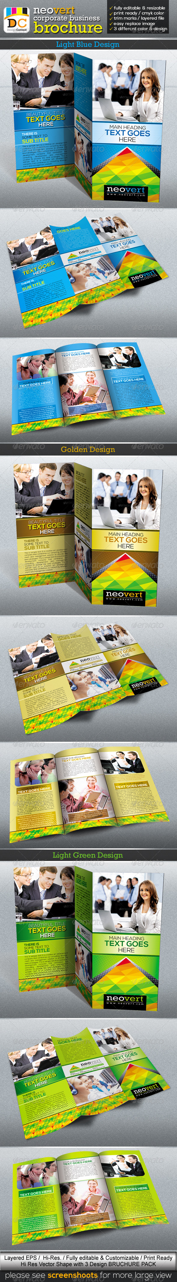 NeoVert Tri-fold Corporate Business Brochure - Corporate Brochures