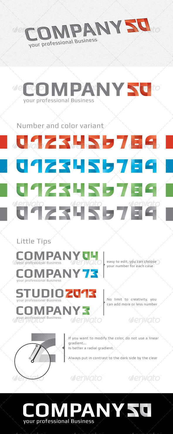 Logo Number Creator - Numbers Logo Templates