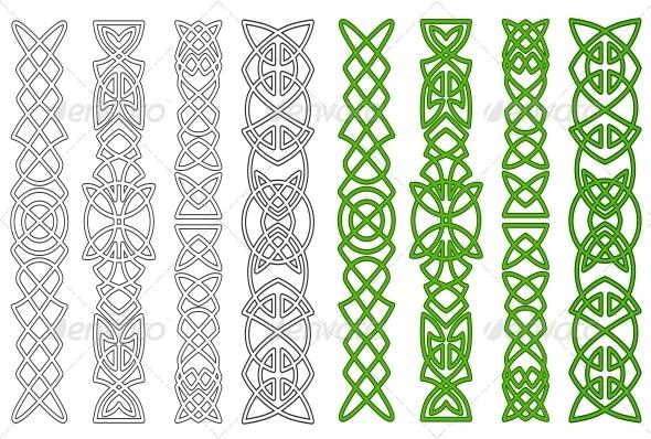 Celtic ornaments and elements - Borders Decorative