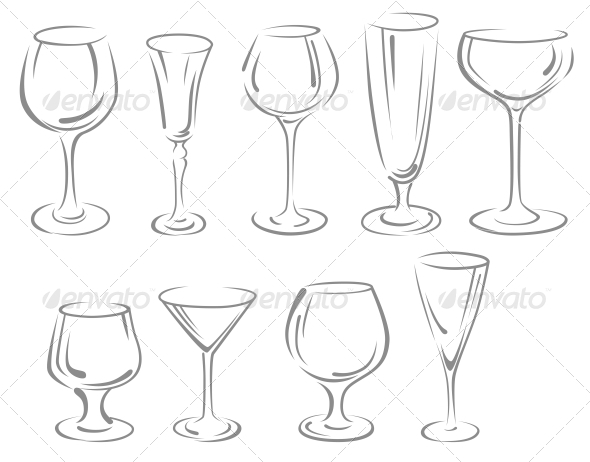 Alcohol glasses - Man-made Objects Objects