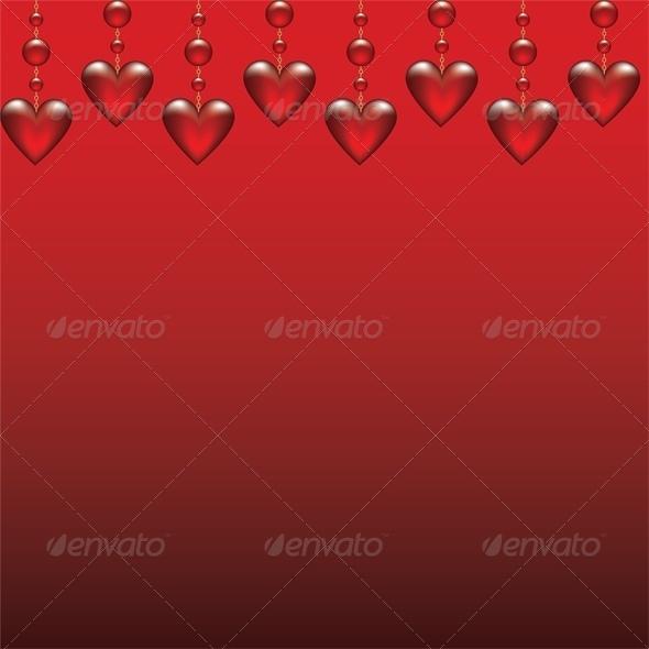 glass hearts - Valentines Seasons/Holidays